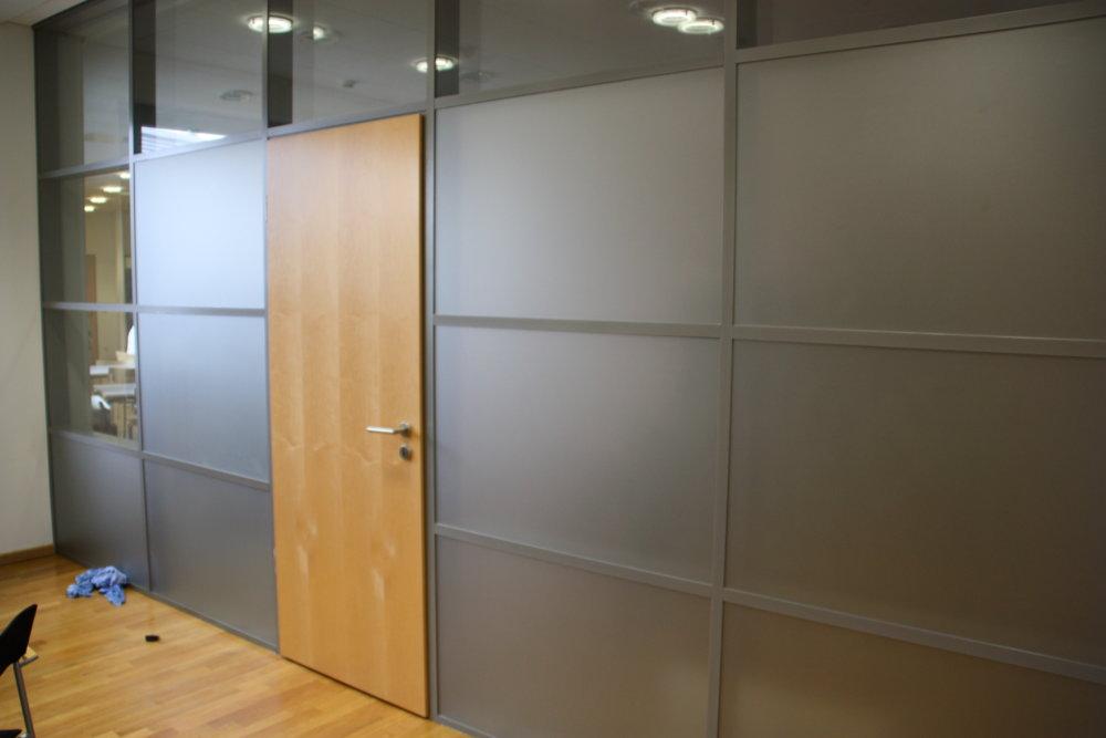 Sichtschutzfolie Büro - Glaswand