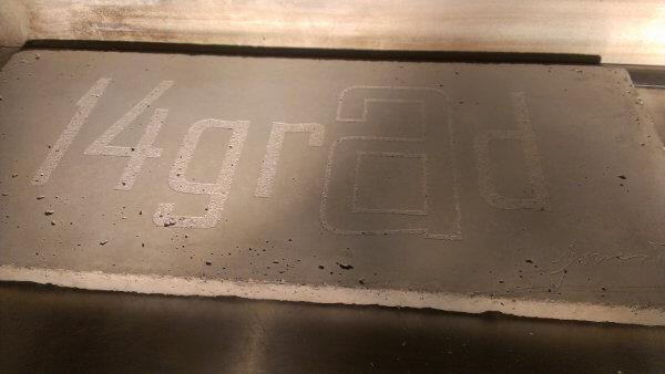 Laserbeschriftung Beton