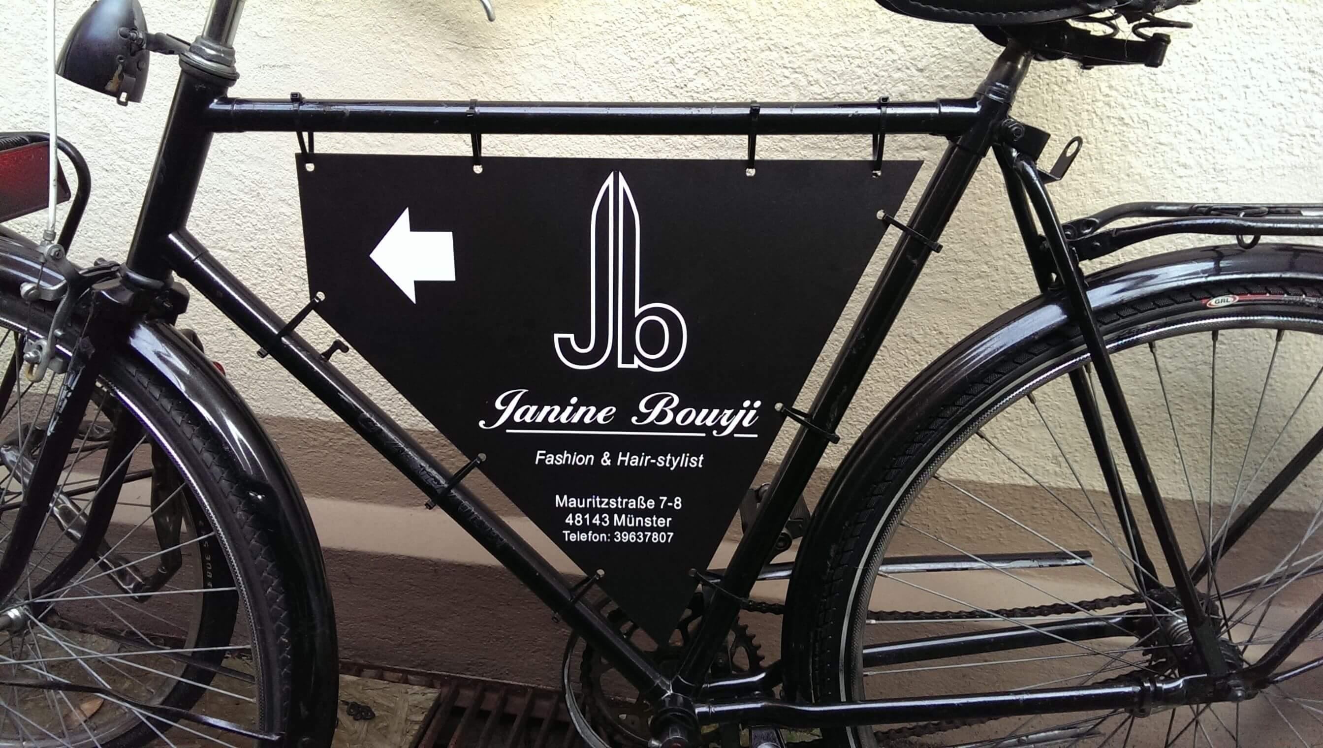 Werbung - Schild für Fahrrad